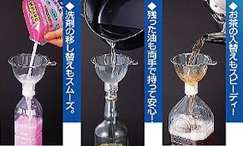 特急じょうご 移し替えのスピードが違う!ペットボトルに最適なじょうご。