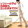伸び伸びモップ ドライ&ウェットパッドセット ソファーや机の下も立ったままお掃除できます。