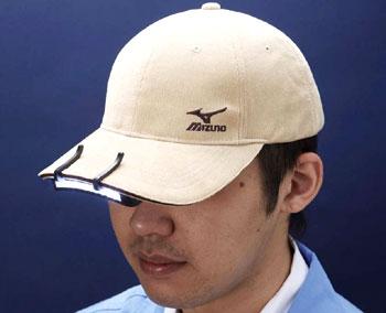 11LED帽子ライト 帽子のつばに差し込むLEDライト 両手が使えて作業効率アップ