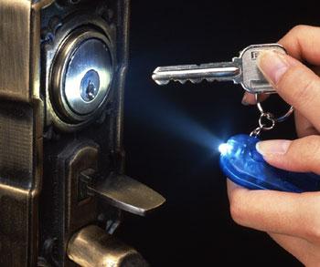 LED付ホイッスル 白色LEDキーライトとホイッスルが一体 防犯、緊急時に使えます。